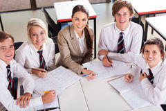 Teacher students classroom Stock Photos