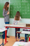 Teacher and students in the classroom: teaching.  Stock Photo