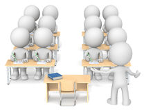 Teacher and Students. Royalty Free Stock Image