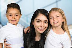 Teacher With Students stock photo