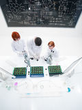 Teacher and students in laboratory Royalty Free Stock Photo
