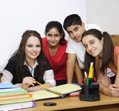 Teacher and students posing Stock Photos