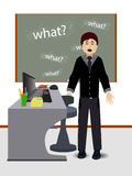Teacher at the table. concept of education. Royalty Free Stock Image