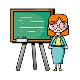 Teacher teaching class lesson in the backcoard. Vector illustration Royalty Free Stock Images