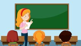 Teacher teaching a class. Illustration vector illustration