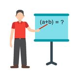 Teacher Teaching. Teacher, classroom, school icon vector image. Can also be used for people. Suitable for use on web apps, mobile apps and print media Royalty Free Stock Photo