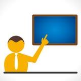 Teacher teaching concept stock illustration