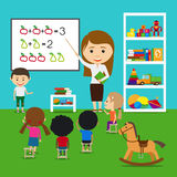Teacher teaching kids Royalty Free Stock Image