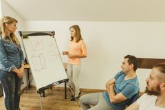 Teacher teaching mathematics to college students Royalty Free Stock Photography