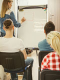 Teacher teaching mathematics to college students Royalty Free Stock Photo