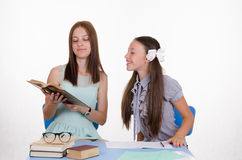The teacher tells the student something Royalty Free Stock Image
