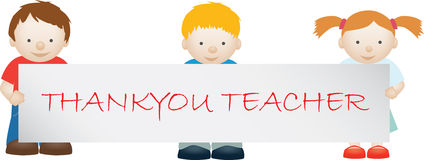 Teacher thankyou Royalty Free Stock Images