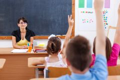 Teacher and their students Royalty Free Stock Photo