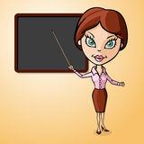 Teacher to the blackboard Royalty Free Stock Image