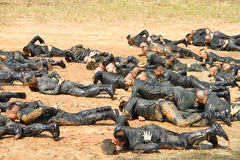 Teacher training military student Stock Photos