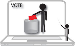 Teacher  voting on computer Royalty Free Stock Photos