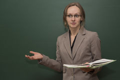 Teacher is welcoming the class Royalty Free Stock Photography