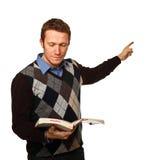 Teacher on white stock images