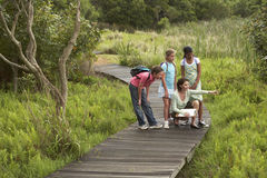 Teacher With Children On Field Trip Royalty Free Stock Image