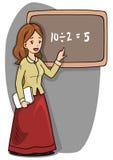 Teacher Woman Blackboard vector illustration