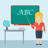 Teacher woman in classroom Royalty Free Stock Images