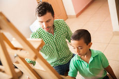 Teacher working with a student Royalty Free Stock Photography