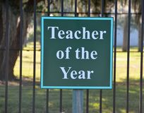 Teacher of the Year sign Royalty Free Stock Photos