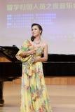 Teacher yinqin of xiamen university singing italian opera Royalty Free Stock Photos