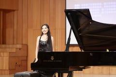 Teacher zhouyubo of jimei university play piano Stock Photo