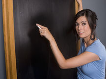 Teachers Chalkboard School Lesson Maker Stock Image