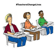 Teachers Change Lives Royalty Free Stock Photography