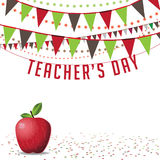 Teachers Day background EPS 10 vector. Royalty free stock illustration. For greeting card, ad, promotion, poster, flier, blog, article, social media or Stock Photo