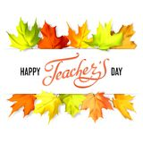 Teachers day card Royalty Free Stock Image