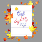 Teachers day card Royalty Free Stock Photography