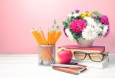 Teachers day,empty copy space background. stock photo