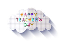 Teachers Day1. Happy Teacher`s Day  poster design. Vector doodle quote .Vector illustration Stock Photo