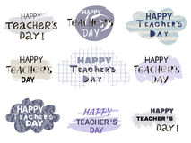 Teachers Day6. Happy Teacher`s Day  poster design. Vector doodle quote .Vector illustration Royalty Free Stock Image