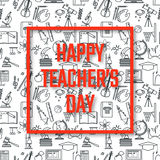 Teachers Day Holidays. Vector Illustration of Teachers Day Holidays for Design, Website, Background, Banner. Greeting card for School Element icon Template Stock Image