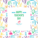 Teachers Day Holidays. Vector Illustration of Teachers Day Holidays for Design, Website, Background, Banner. Greeting card for School Element icon Template Royalty Free Stock Photography