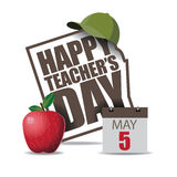 Teachers Day icon EPS 10 vector. Royalty free stock illustration. For greeting card, ad, promotion, poster, flier, blog, article, social media or marketing stock illustration