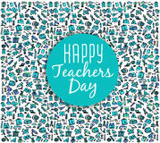 Teachers day.School doodles Supplies Sketchy background Royalty Free Stock Photos