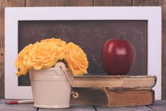 Teachers day. Still life for greeting card stock photo