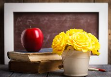 Teachers day. Still life for greeting card Royalty Free Stock Images