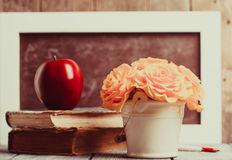 The Teachers day. Teachers day still life for greeting card stock images