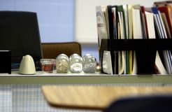 Teachers desk Stock Images