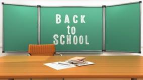 Teachers desk in the school class 3d render Stock Images