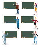 Teachers and Empty Blackboard Stock Image