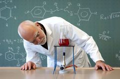 Teachers experimenting in a laboratory Stock Photography