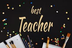 Teachers& feliz x27; Tarjeta de felicitación del día libre illustration
