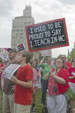 Teachers Protest Education Issues Royalty Free Stock Images